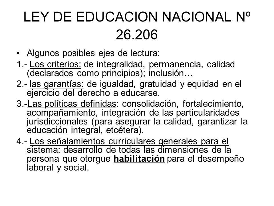 LEY DE EDUCACION NACIONAL Nº 26.206