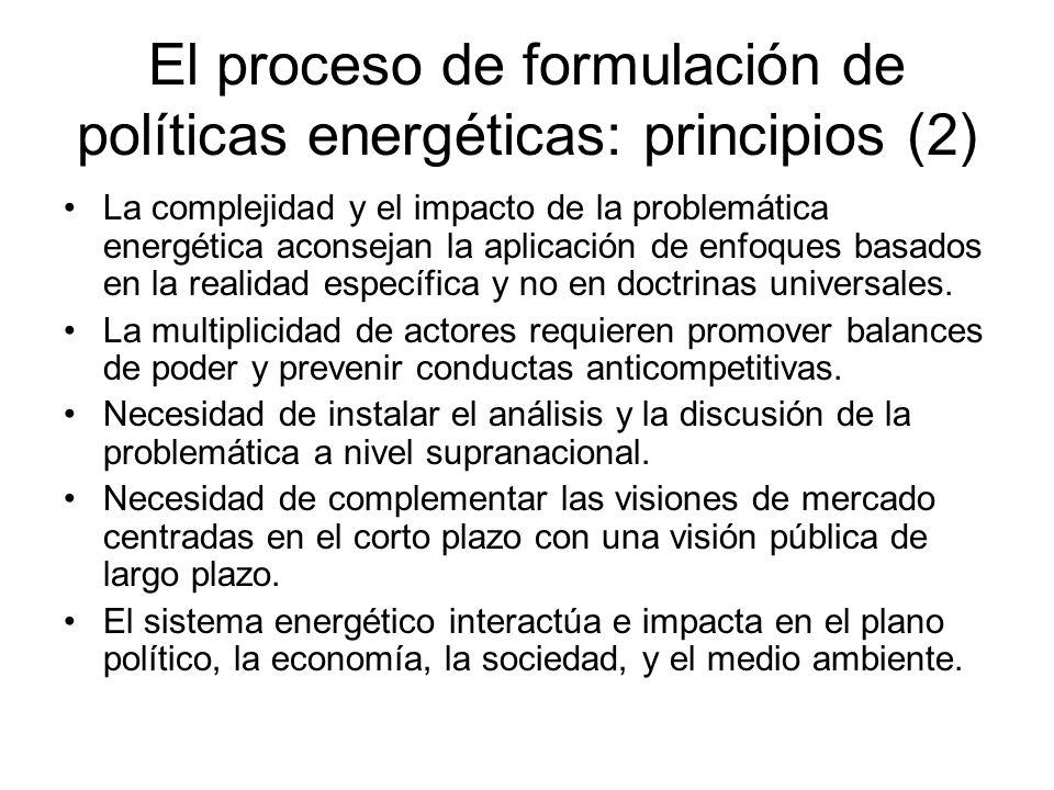 El proceso de formulación de políticas energéticas: principios (2)
