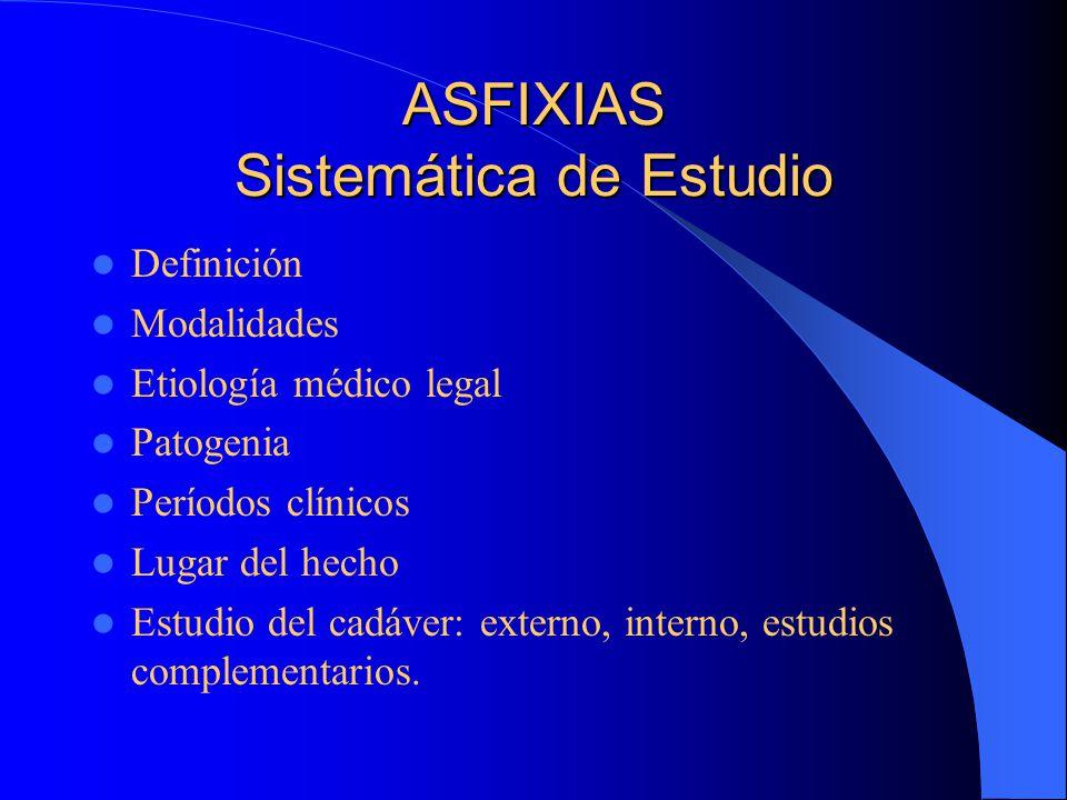 ASFIXIAS Sistemática de Estudio
