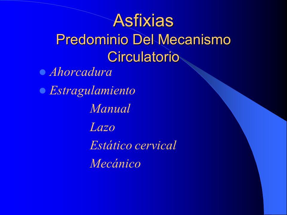 Asfixias Predominio Del Mecanismo Circulatorio