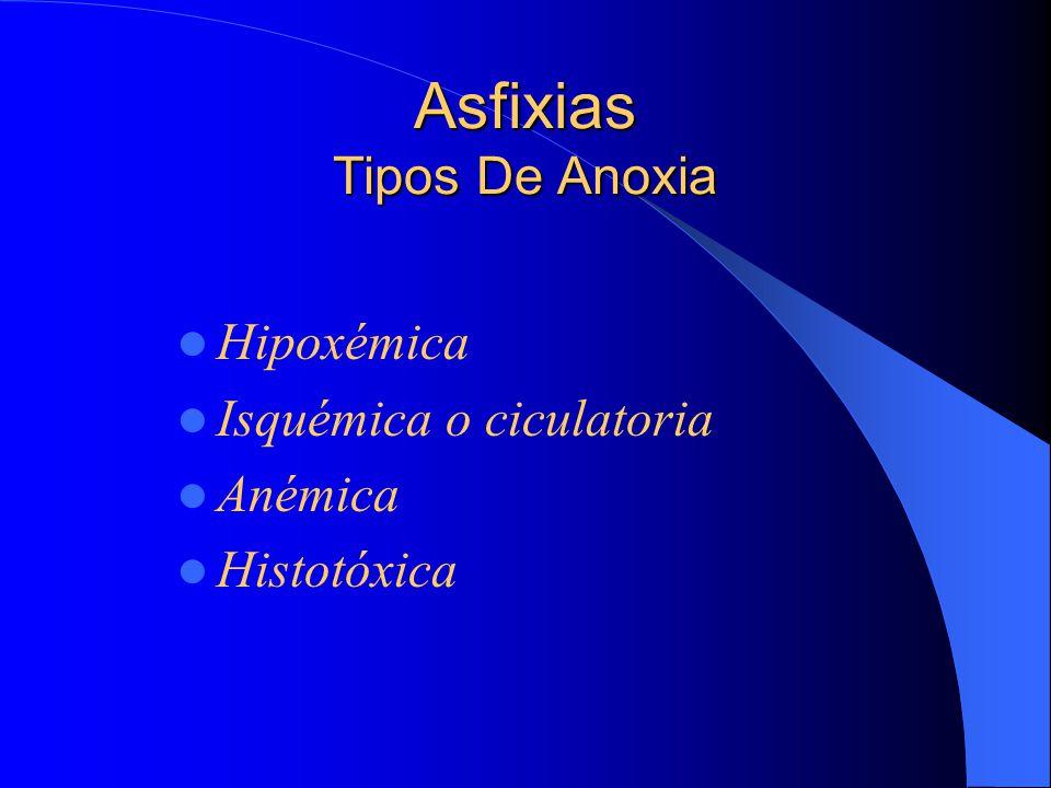 Asfixias Tipos De Anoxia