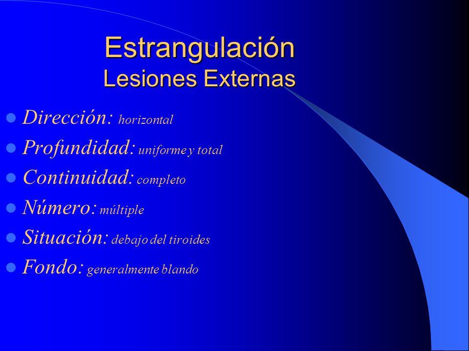 Estrangulación Lesiones Externas