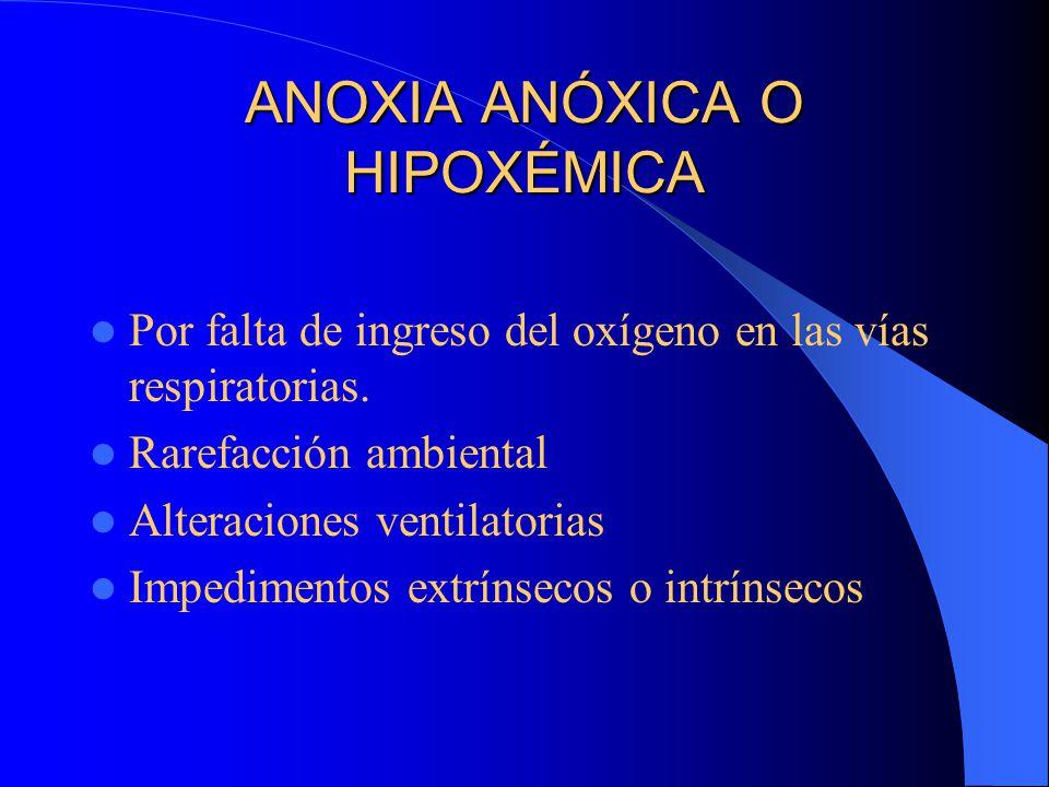 ANOXIA ANÓXICA O HIPOXÉMICA