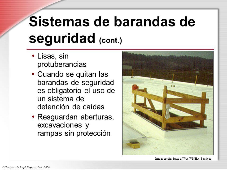 Sistemas de barandas de seguridad (cont.)