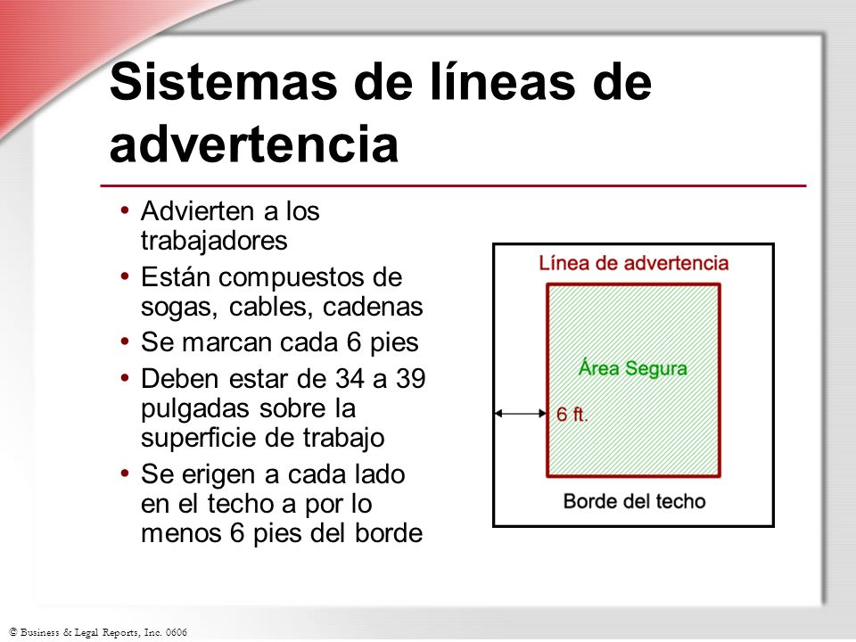 Sistemas de líneas de advertencia