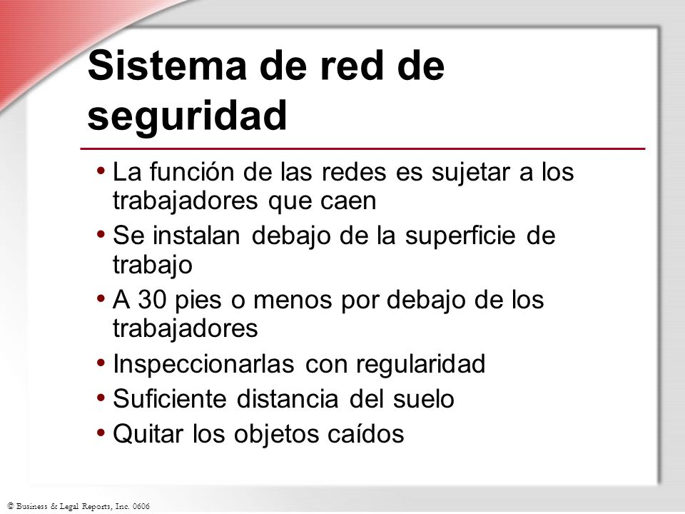 Sistema de red de seguridad