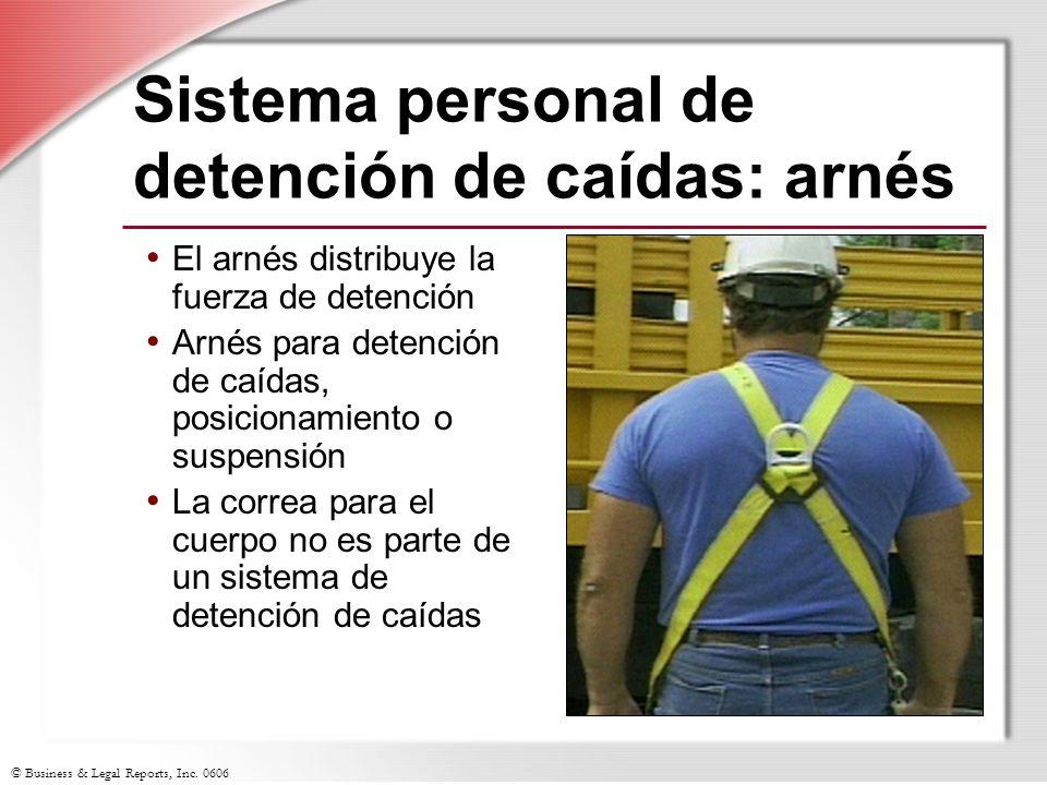 Sistema personal de detención de caídas: arnés