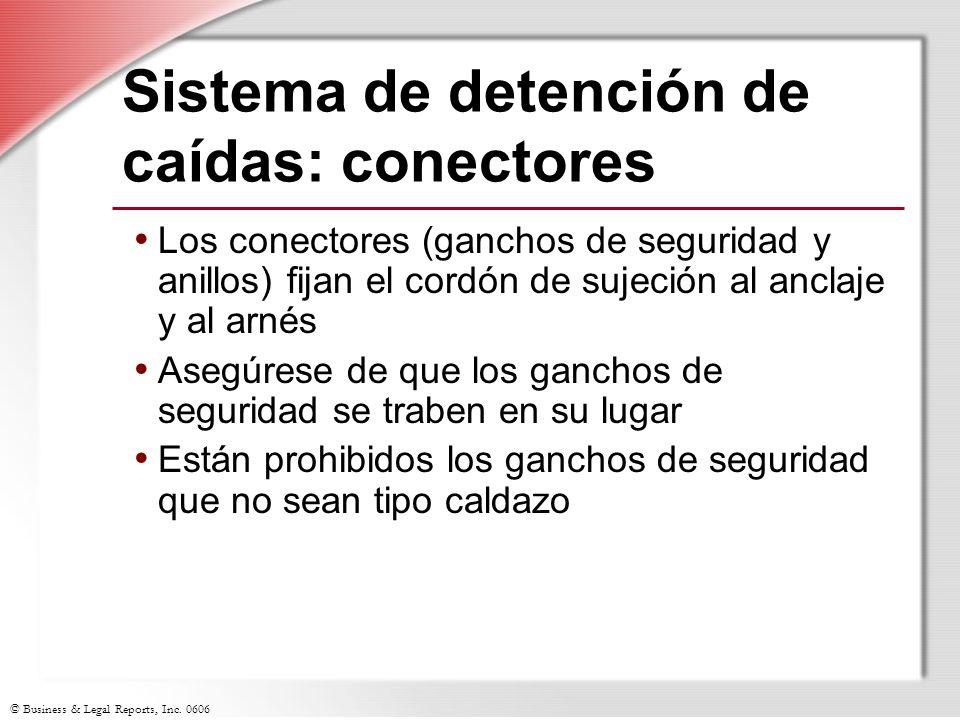 Sistema de detención de caídas: conectores