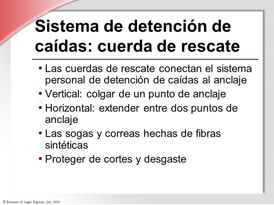 Sistema de detención de caídas: cuerda de rescate