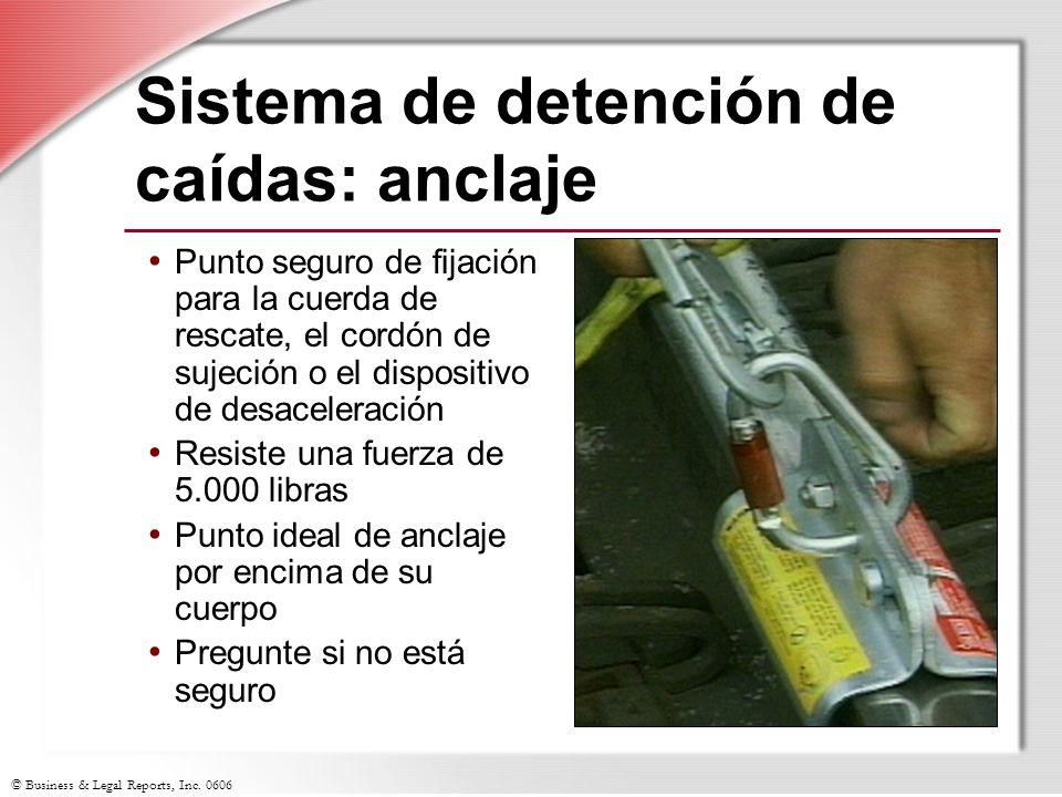 Sistema de detención de caídas: anclaje