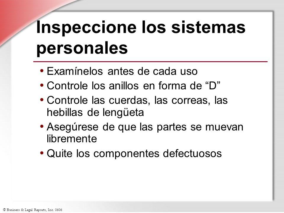 Inspeccione los sistemas personales