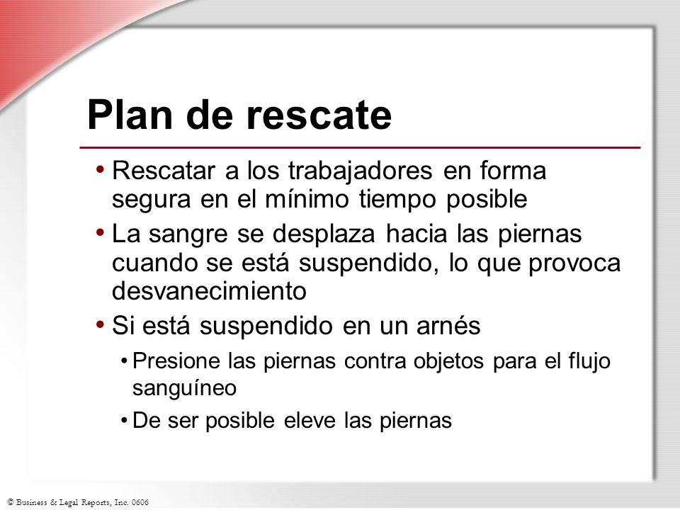 Plan de rescate Rescatar a los trabajadores en forma segura en el mínimo tiempo posible.