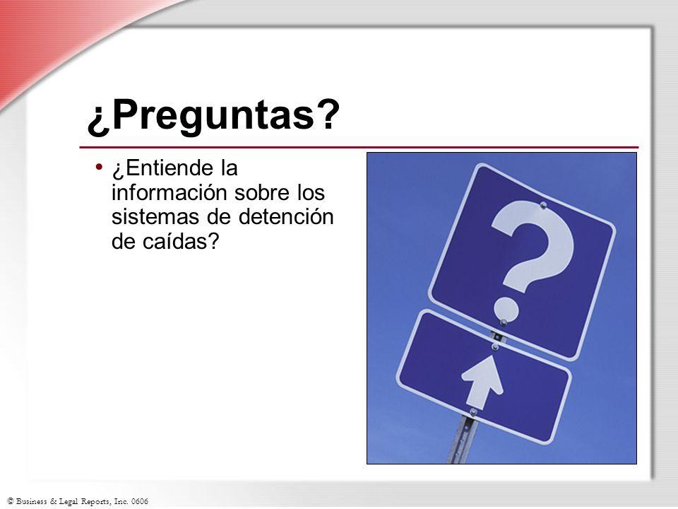 ¿Preguntas ¿Entiende la información sobre los sistemas de detención de caídas Slide Show Notes.