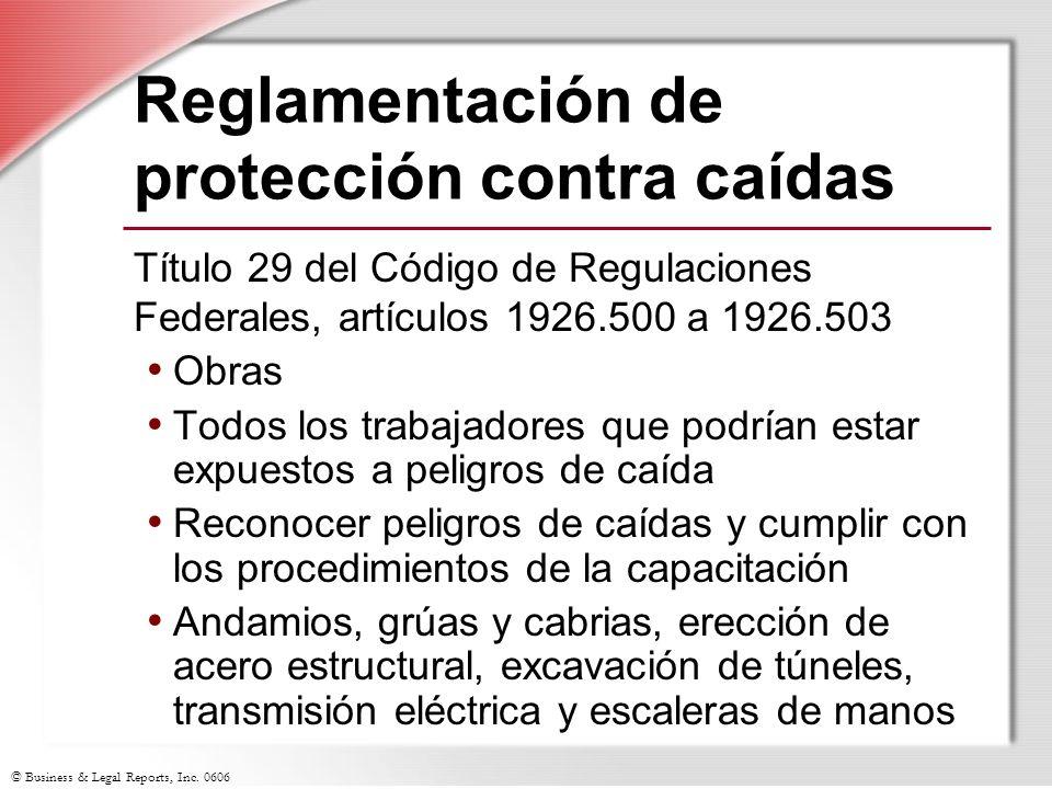 Reglamentación de protección contra caídas