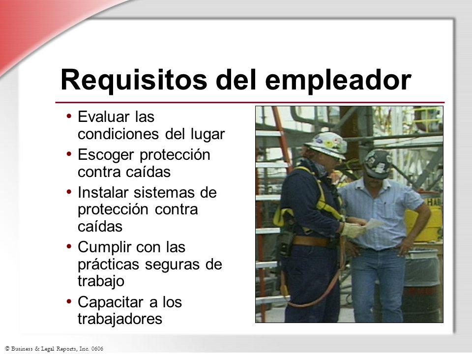 Requisitos del empleador