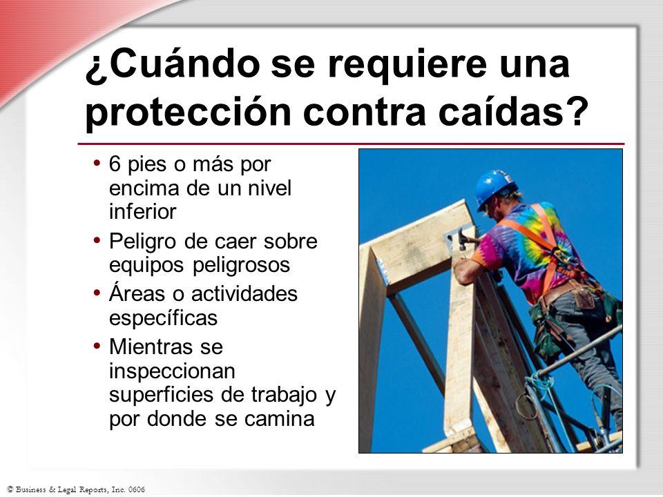 ¿Cuándo se requiere una protección contra caídas