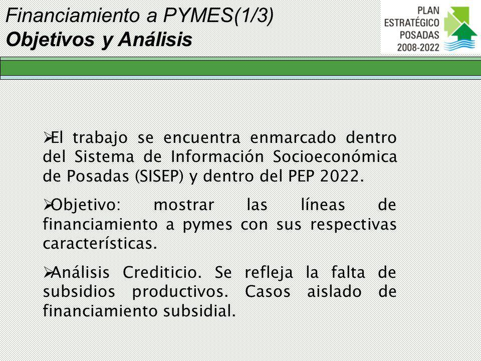 Financiamiento a PYMES(1/3) Objetivos y Análisis