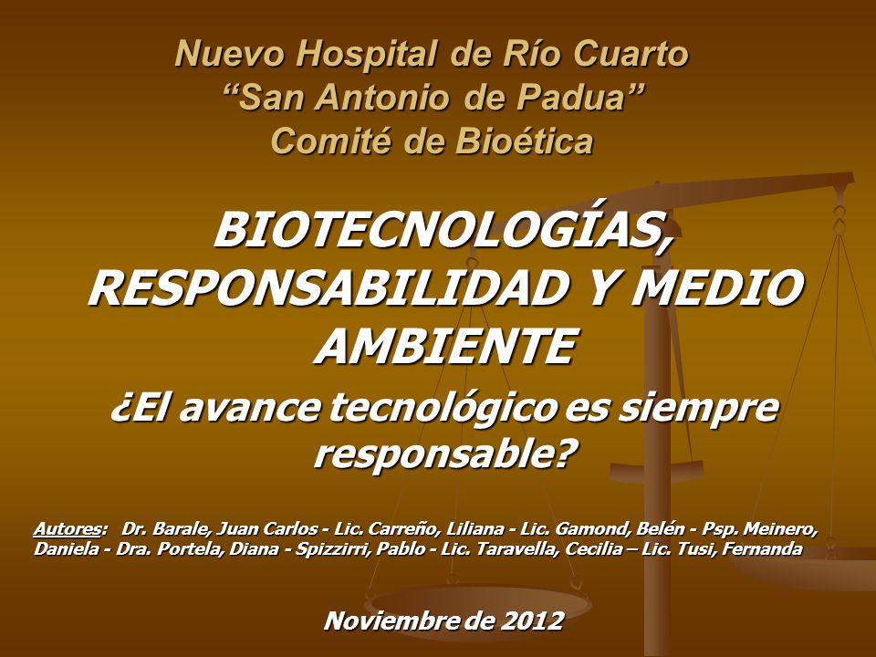 Nuevo Hospital de Río Cuarto San Antonio de Padua Comité de Bioética
