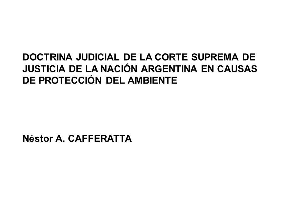 DOCTRINA JUDICIAL DE LA CORTE SUPREMA DE