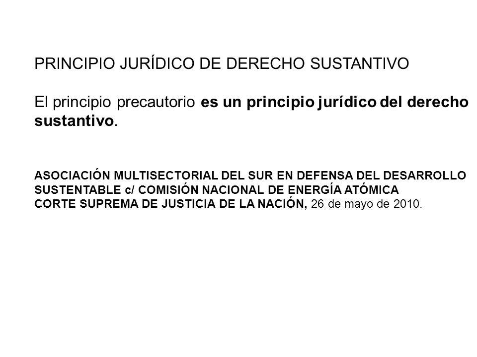 PRINCIPIO JURÍDICO DE DERECHO SUSTANTIVO
