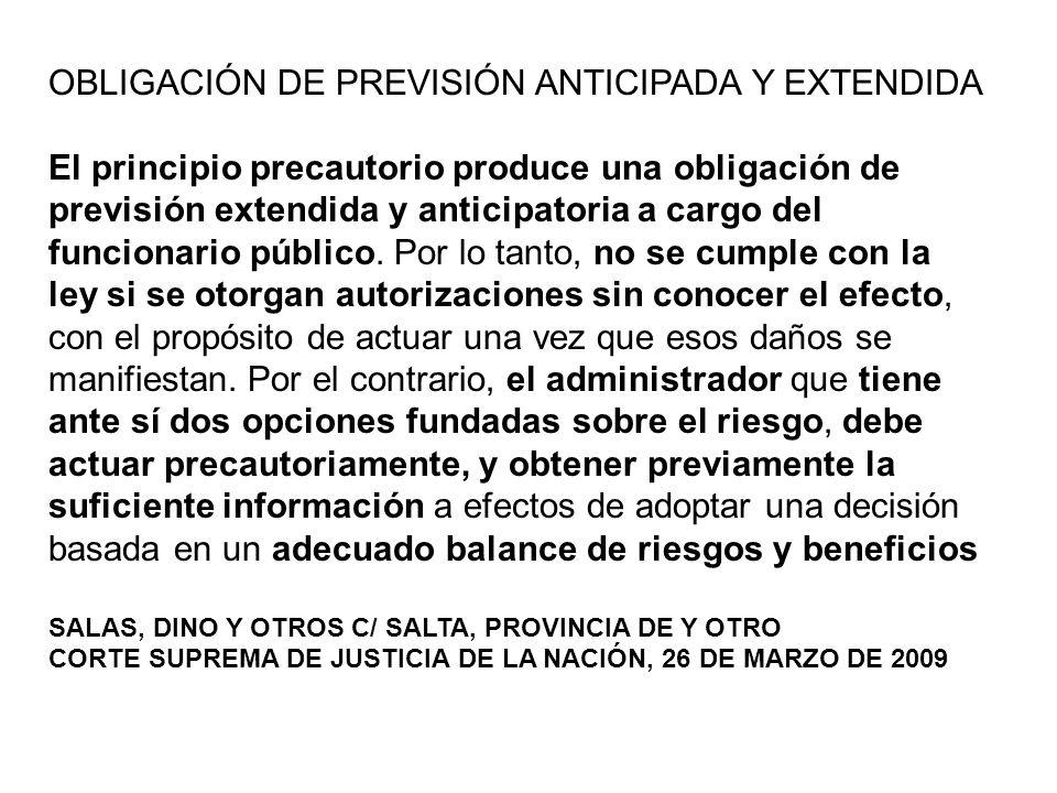 OBLIGACIÓN DE PREVISIÓN ANTICIPADA Y EXTENDIDA