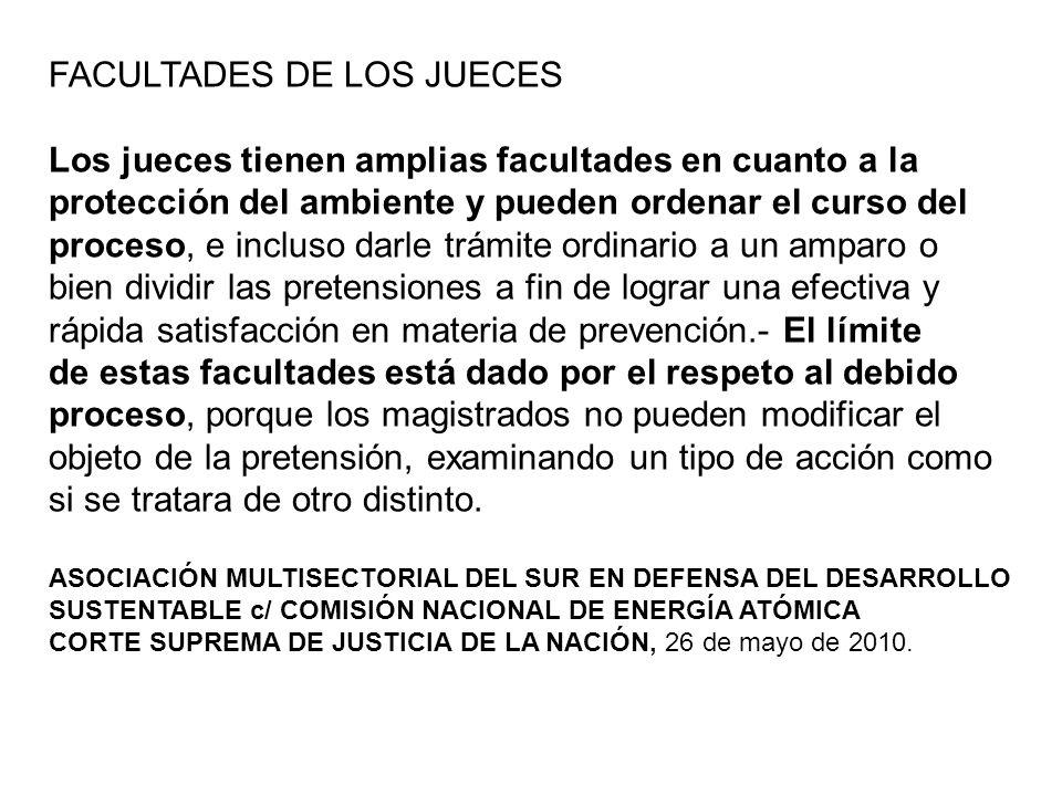 FACULTADES DE LOS JUECES