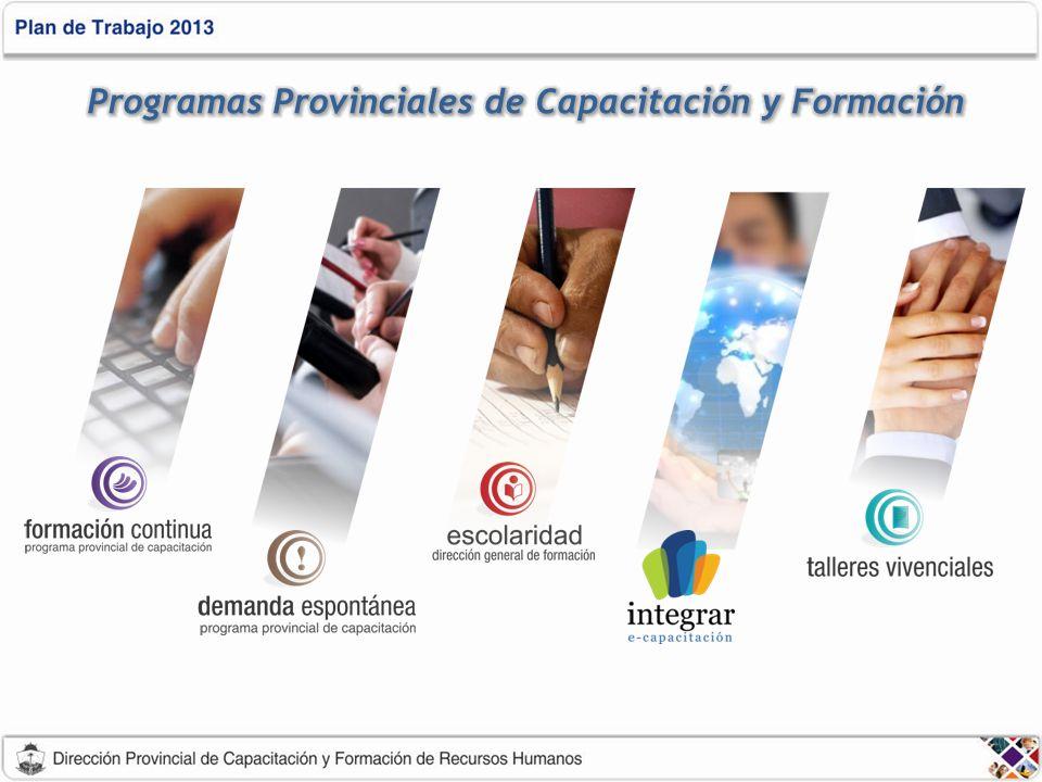 Programas Provinciales de Capacitación y Formación