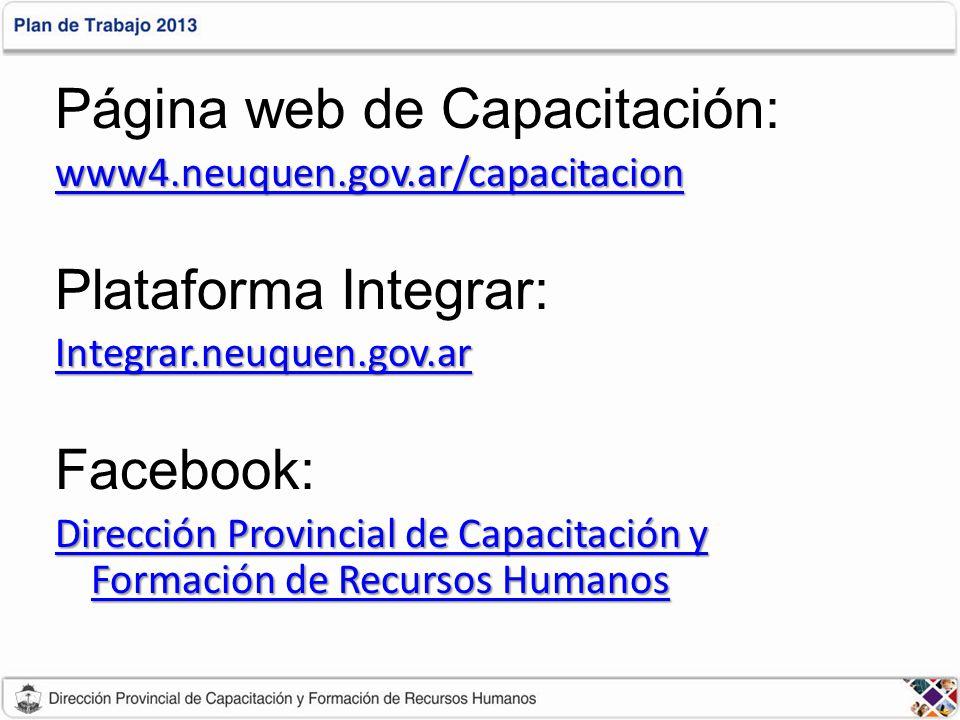 Página web de Capacitación: Plataforma Integrar: