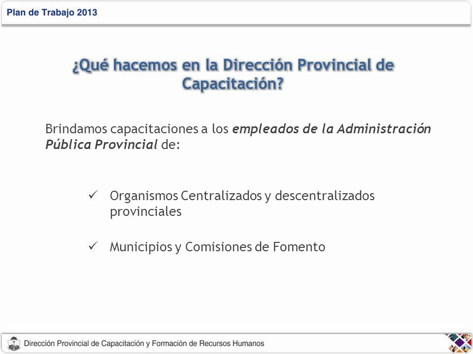 ¿Qué hacemos en la Dirección Provincial de Capacitación
