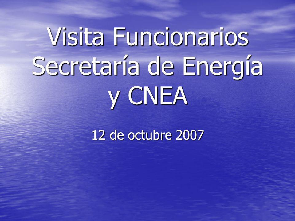 Visita Funcionarios Secretaría de Energía y CNEA
