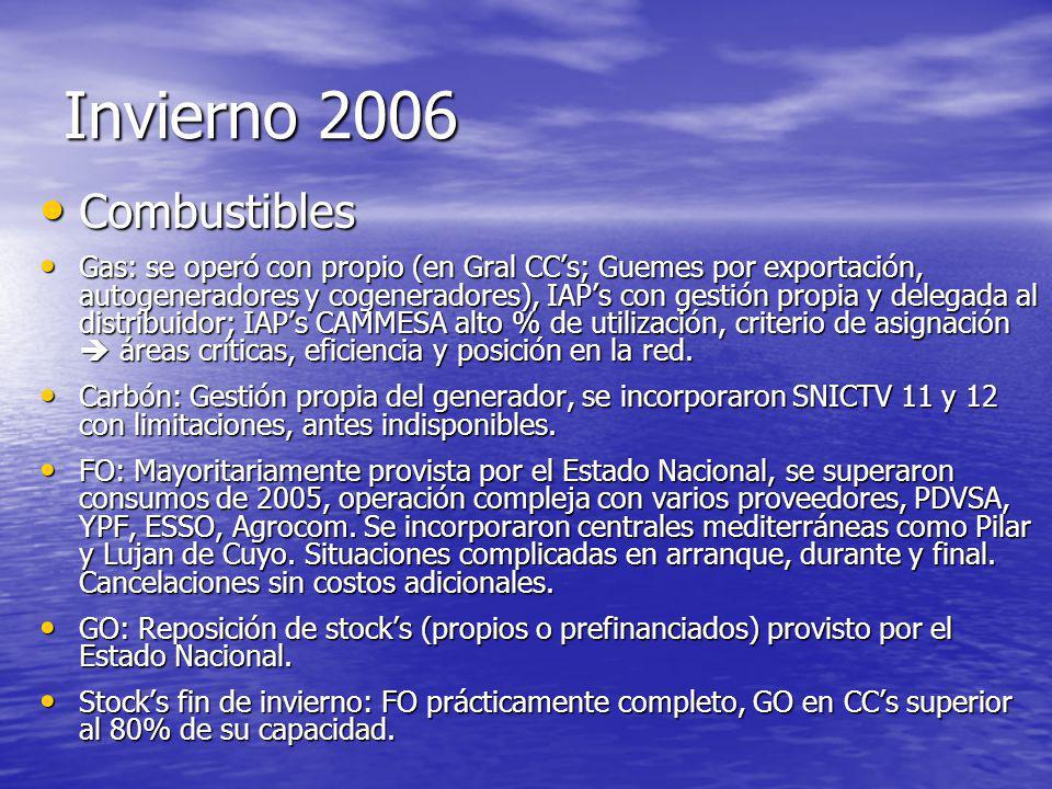Invierno 2006 Combustibles