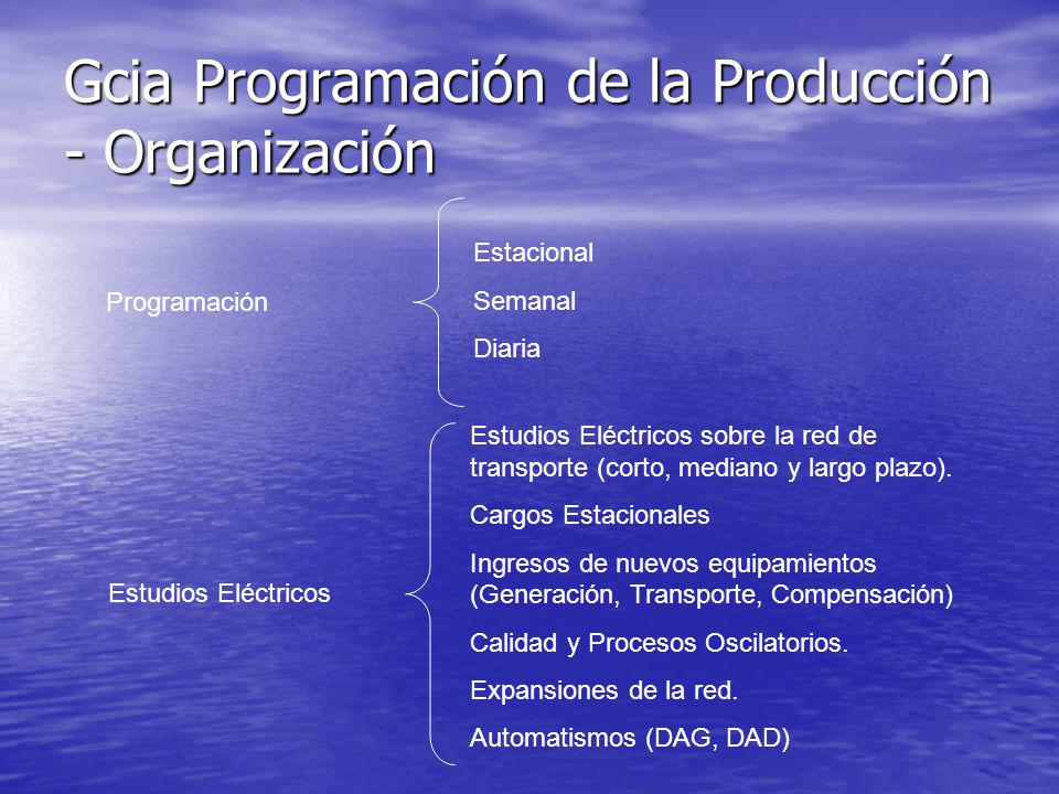 Gcia Programación de la Producción - Organización