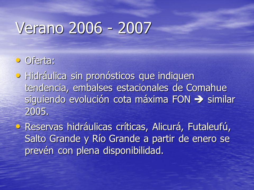 Verano 2006 - 2007 Oferta:
