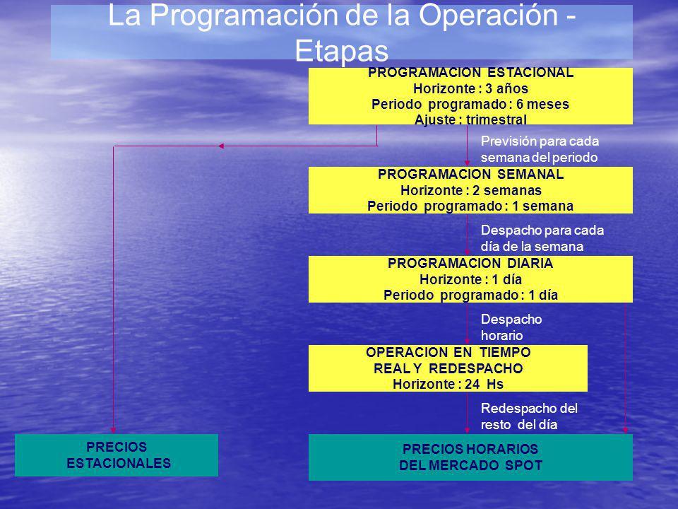 La Programación de la Operación - Etapas
