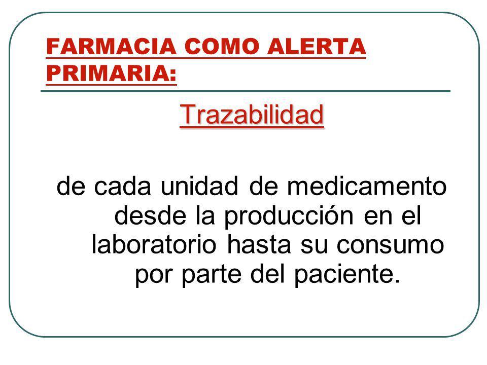 FARMACIA COMO ALERTA PRIMARIA: