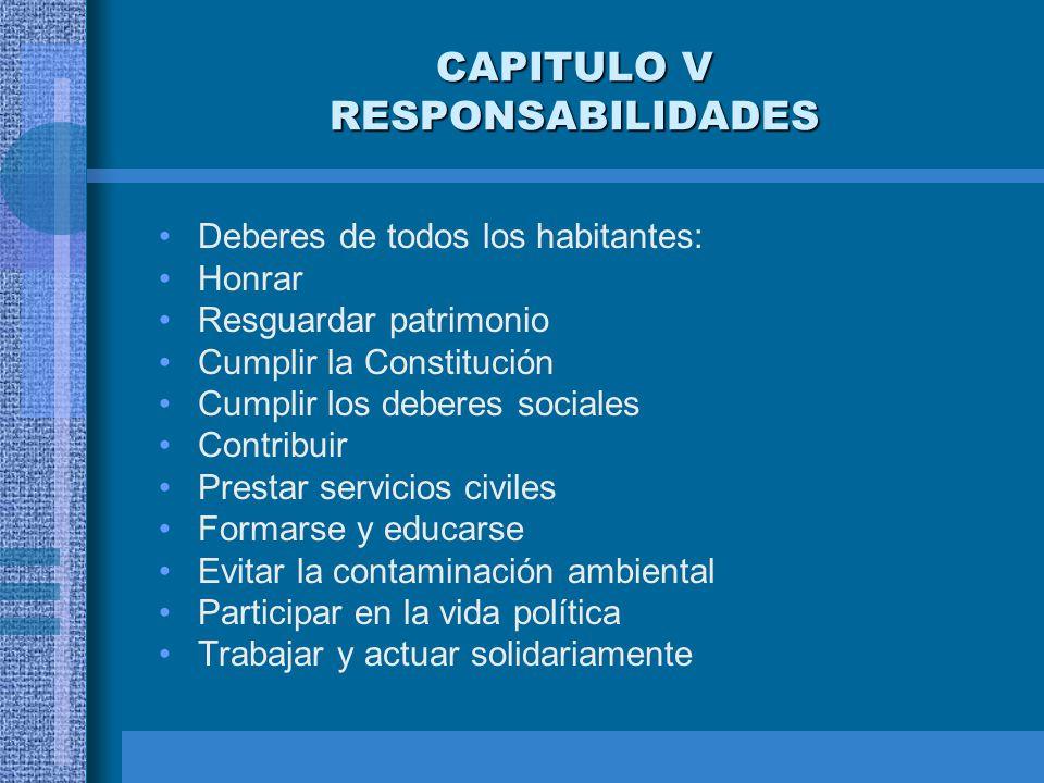 CAPITULO V RESPONSABILIDADES