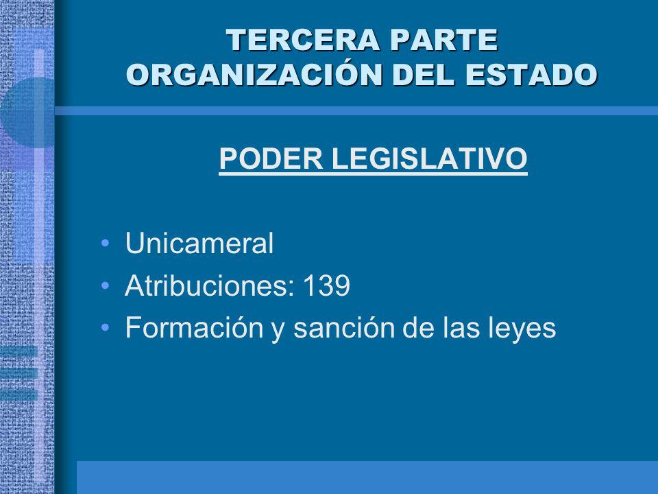 TERCERA PARTE ORGANIZACIÓN DEL ESTADO