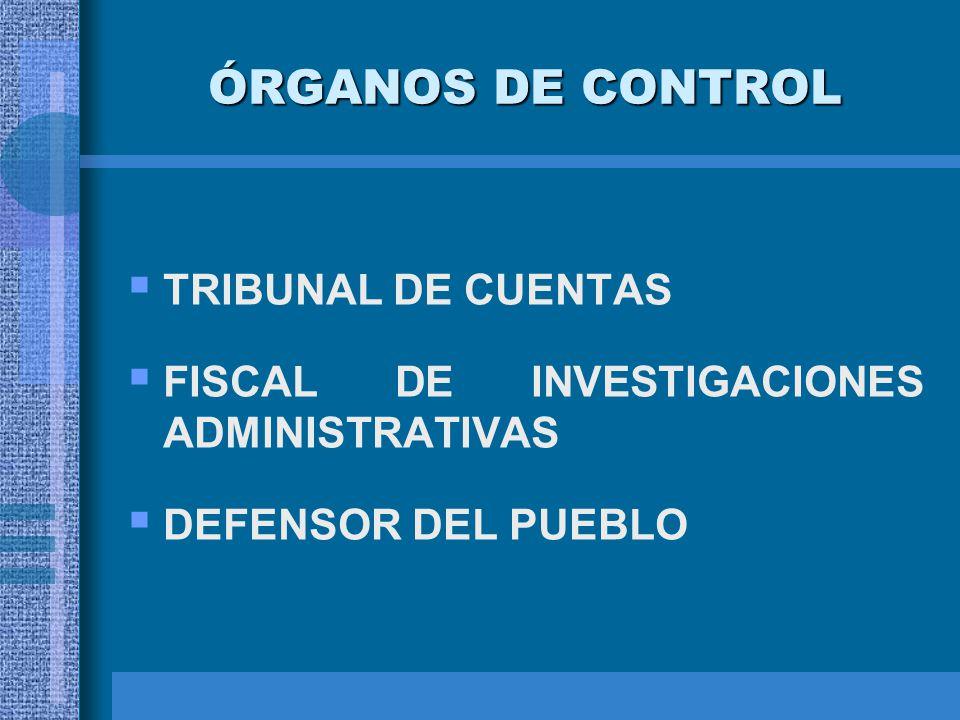 ÓRGANOS DE CONTROL TRIBUNAL DE CUENTAS