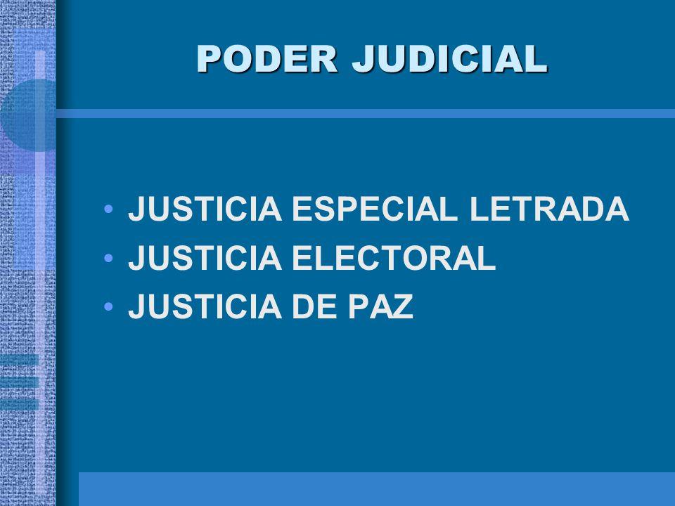 PODER JUDICIAL JUSTICIA ESPECIAL LETRADA JUSTICIA ELECTORAL