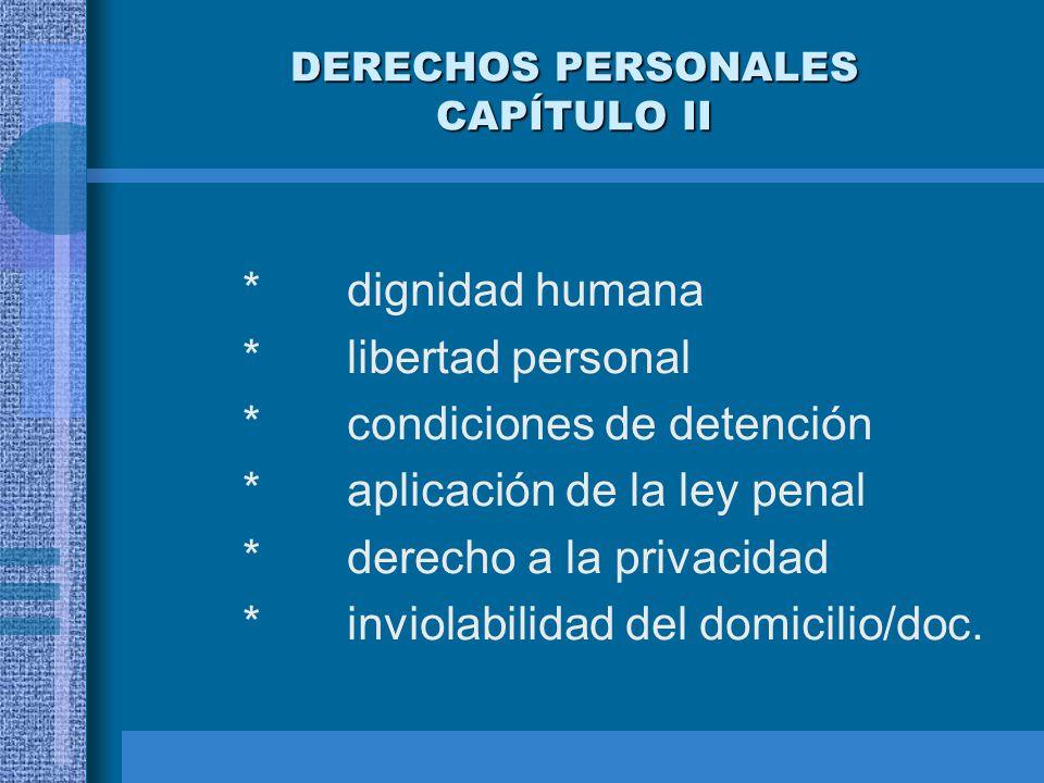 DERECHOS PERSONALES CAPÍTULO II