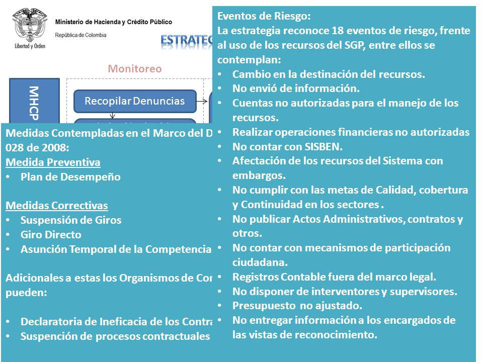 Ministerios Sectoriales y DNP