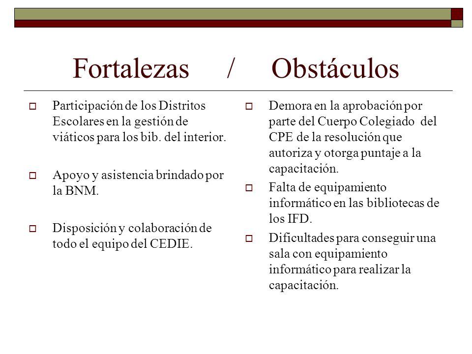 Fortalezas / Obstáculos