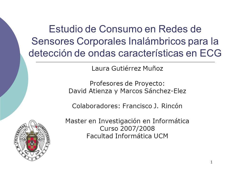 Estudio de Consumo en Redes de Sensores Corporales Inalámbricos para la detección de ondas características en ECG
