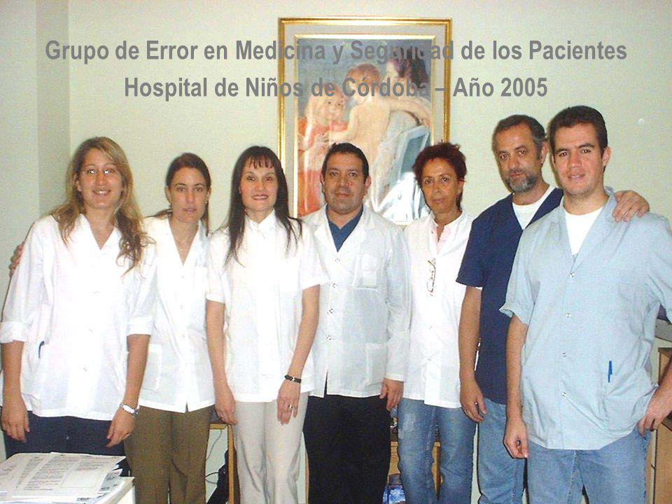Grupo de Error en Medicina y Seguridad de los Pacientes