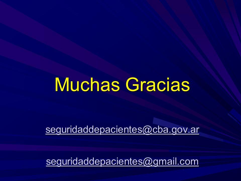 Muchas Gracias seguridaddepacientes@cba.gov.ar