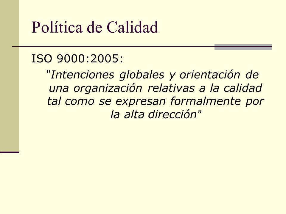 Política de Calidad ISO 9000:2005: