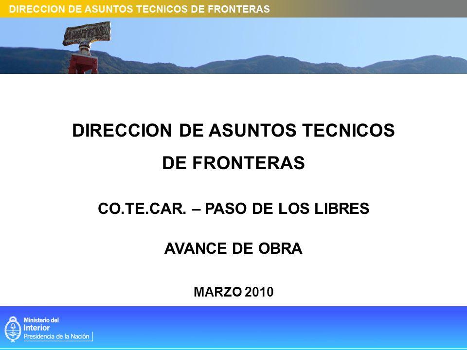 DIRECCION DE ASUNTOS TECNICOS CO.TE.CAR. – PASO DE LOS LIBRES