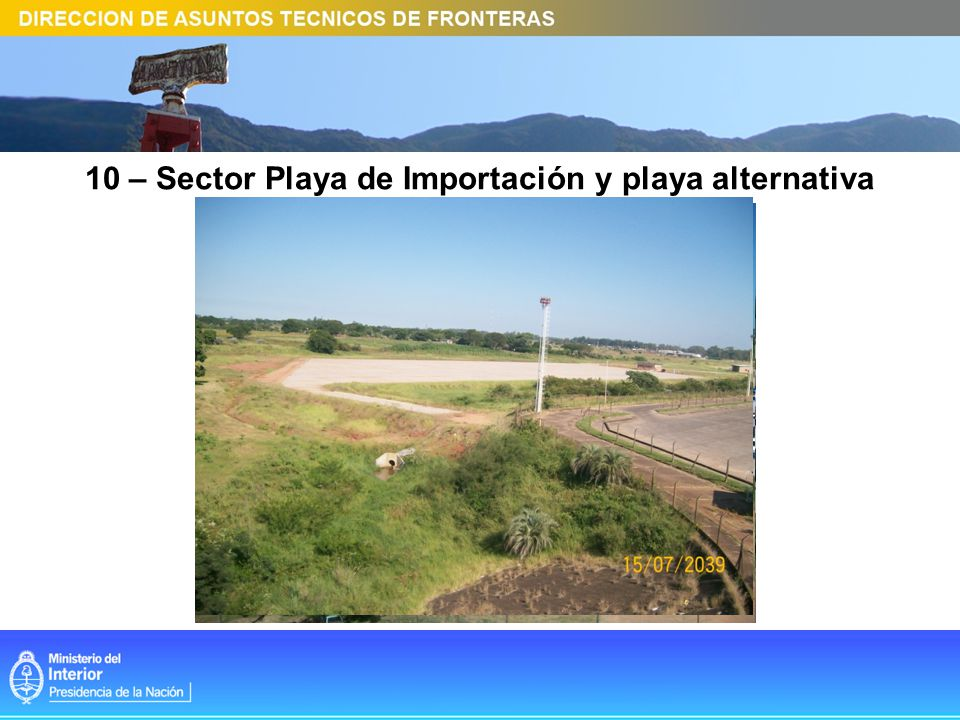 10 – Sector Playa de Importación y playa alternativa