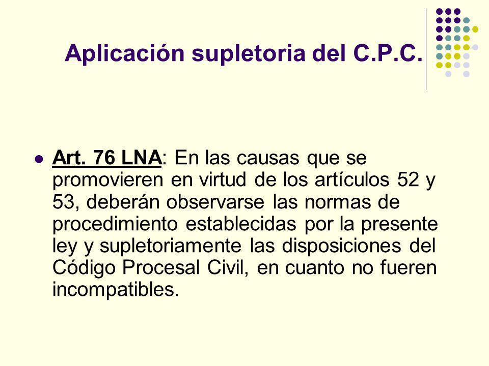 Aplicación supletoria del C.P.C.