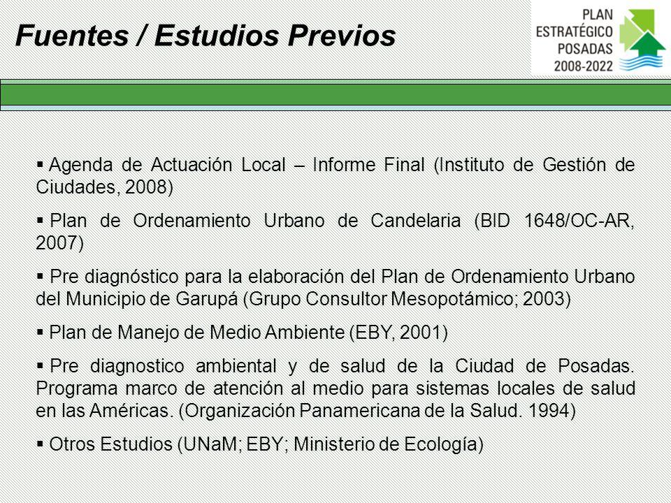 Fuentes / Estudios Previos